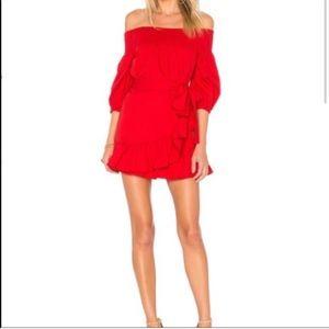 Tularosa Red Off The Shoulder Dress